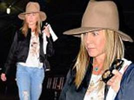 jennifer aniston looks solemn in new york as her ex brad pitt's life implodes amid divorce and child abuse allegations