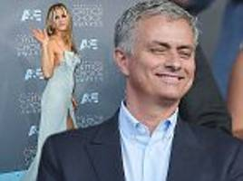jose mourinho is never lost for words... but his chance encounter with jennifer aniston even shut him up