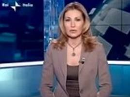 italian tv presenter criticised for wearing a crucifix and rosary beads on air