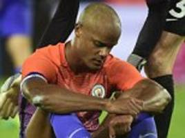 manchester city waiting to learn extent of vincent kompany's latest injury blow