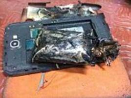 samsung note phone 'exploded' and caused a fire on a plane in chennai