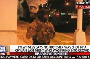 Charlotte Protester Shouts to Fox 'Give Bill O'Reilly a Message for Me'