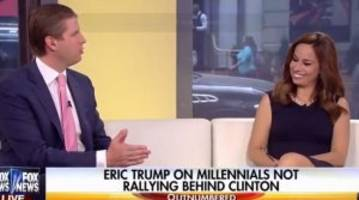Fox News Host Laughs at Eric Trump After he Claims His Father Came From 'Just About Nothing'