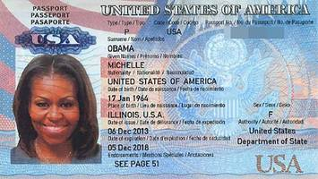 Hackers leak scanned image of Michelle Obama's passport