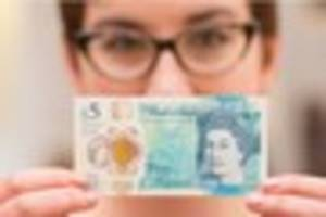 the new plastic £5 notes are selling for more than...