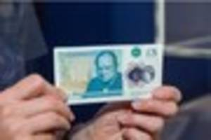 the new five pound note is selling for £200 if it has these...