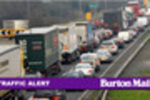 Earlier accident sees one lane of A38 closed this morning