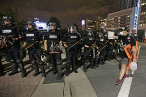 charlotte stays largely peaceful during 3rd night of protest