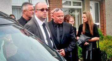 senior loyalists join family at small service as adair says last goodbye to son