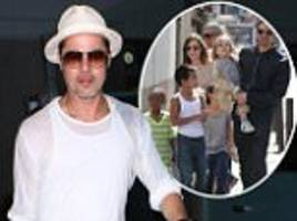 brad pitt 'hasn't seen his kids' since wife angelina jolie filed for divorce... as it's claimed he relieved himself on airport tarmac after that flight