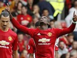 manchester united 4-1 leicester city: goals from chris smalling, juan mata, marcus rashford and paul pogba earn rampant win after jose mourinho drops captain wayne rooney