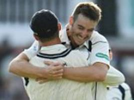 toby roland-jones admits moment his hat-trick won county championship for middlesex was 'all a bit of a blur'
