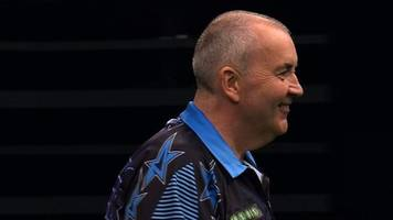 Champions League of Darts: Brilliant 167 checkout for Phil Taylor