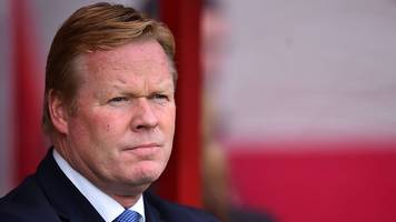 bournemouth 1-0 everton: first-half display not good enough - ronald koeman