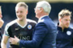 ranieri on fitness of vardy, mahrez and schmeichel for champions...