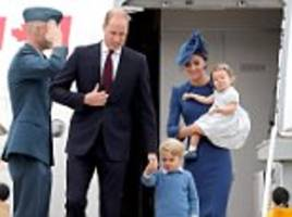 'they look like they were dressed in the 1950s!': the young royals fail to impress twitter users as they pull out all the stops to ensure they look picture perfect for their trip to canada