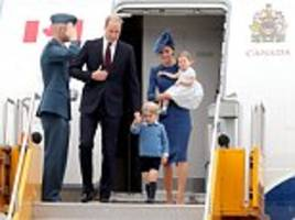 Welcome to Canada! Kate, Wills, George and Charlotte touch down in Victoria for their first royal tour as a family of four