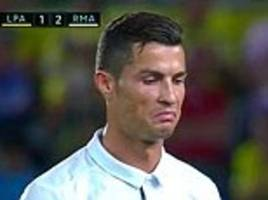 cristiano ronaldo's mother reacts after her son is tactically substituted for the first time in his real madrid career: 'never lower your head'