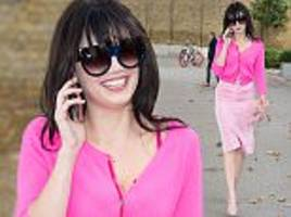 daisy lowe looks super chic in head-to-toe pink as she hits london fashion week