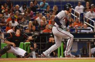 one streak ends, another extends; atlanta braves fall to marlins