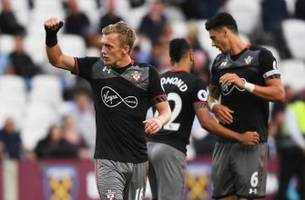 hammered: southampton roll to easy 3-0 victory over west ham