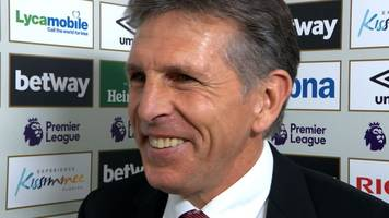 west ham 0-3 southampton: claude puel pleased with 'beautiful' goals