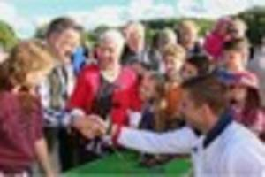 olympic welcome for peter reed in nailsworth