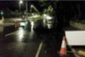 torrential rain causes flooding and crashes in south devon