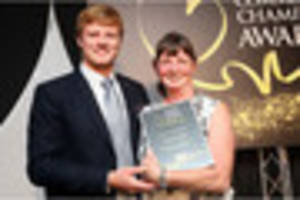 Horse-lover Gail Thompson presented with Community Champions...