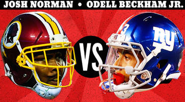 beckham vs. norman: tracking heated rivalry as giants, redskins face off
