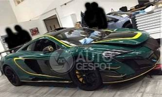 british racing green mclaren mso hs photographed inside factory, looks stunning