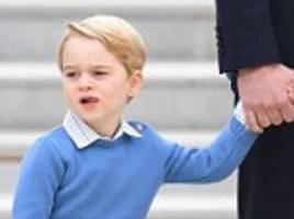 Even princes can't avoid a little wobble after a 10-hour flight! Kate and William have a royal job keeping George in line as he smiles, frowns and even snubs the PM's high five when the family touch down in Canada