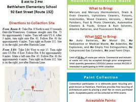 Household Hazardous Waste and Paint Collection on October 8