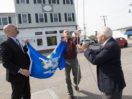ct state rep. scott hoists flag high over mystic