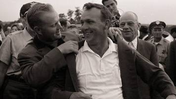 watch arnold palmer beat jack nicklaus to the 1964 masters title at augusta