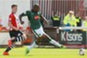 striker paul-arnold garita travels with plymouth argyle squad to...