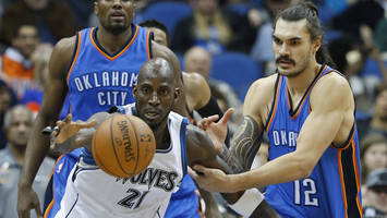 Steven Adams dodged Kevin Garnett's trash talk by saying he didn't speak English