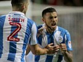 huddersfield 2-1 rotherham: naki wells winner moves terriers top of championship table