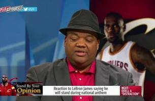 jason whitlock likes the fact lebron will not be protesting during the national anthem- 'speak for yourself'