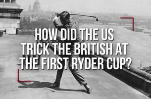how did the us trick the british at the first ryder cup?