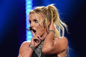 Britney Spears Almost Eats It Onstage at Apple Music Festival