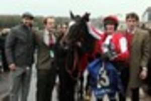 james simpson-daniel's star racehorse monbeg dude he owns with...