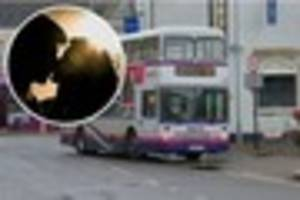 Shameless couple shock Cornwall bus passengers with apparent top...