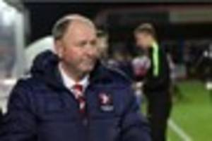 one win in 10 is not good enough, says cheltenham town boss gary...