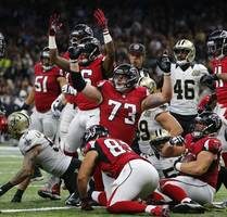 falcons offense keeps building steam in 45–32 win vs. saints