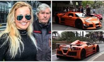 21YO Blonde Drives Orange Gumpert Apollo Around Monaco