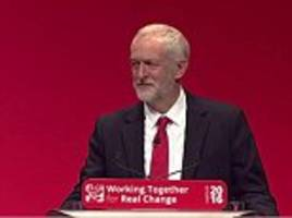 Jeremy Corbyn tries to draw a line under 'trench warfare' with rebel Labour MPs in conference speech as he faces a fresh backlash over open-door immigration pledge