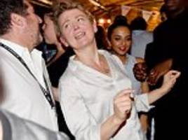 yvette cooper dances away at last night of labour conference