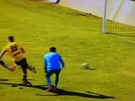 zinedine zidane's son luca has a dribbling disaster as real madrid youngster is caught out duringuefa youth league clash