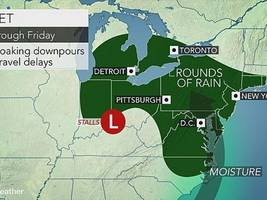 rain possible through the weekend in new rochelle